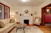 white and brown living room interior