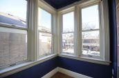 white wooden framed clear glass windows