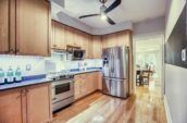 brown wooden kitchen cabinets